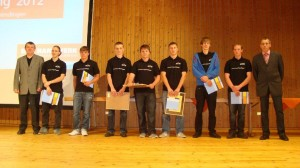 Die Junggesellen der Schreinerinnung Emmendingen 2012